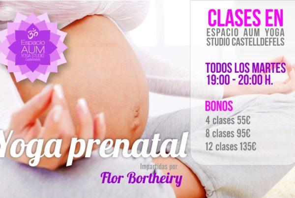 Yoga Prenatal - Espacio AUM Yoga Studio Castelldefels