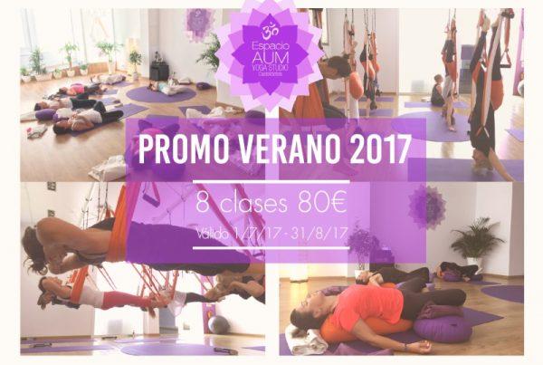 Promo verano Espacio Aum Yoga Studio Castelldefels