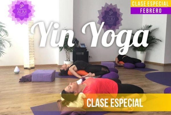 Clase Especial -Yin Yoga - Febrero 2018 - En Espacio Aum Yoga Studio Castelldefels
