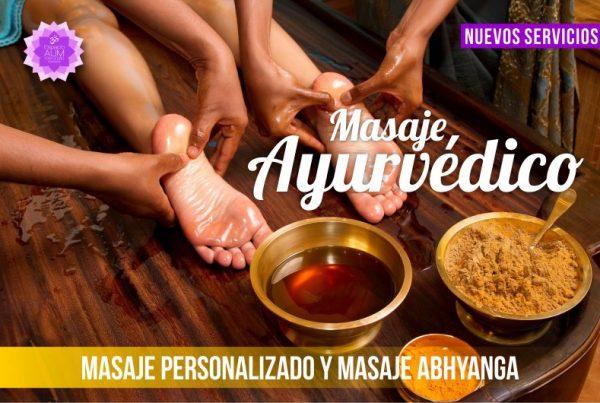 Nuevos Servicios - Masajes Ayurvédicos - Febrero 2018 - En Espacio Aum Yoga Studio Castelldefels