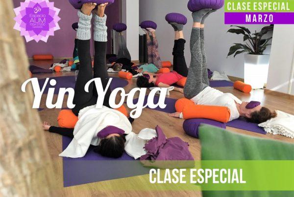 Clase Especial -Yin Yoga - en marzo de 2018 - En Espacio Aum Yoga Studio Castelldefels