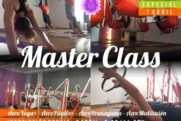 MASTER CLASS - ABRIL 2018 Aeroyoga Aeropilates Aeropranayama Aeromeditacion - Espacio Aum Yoga Studio Castelldefels
