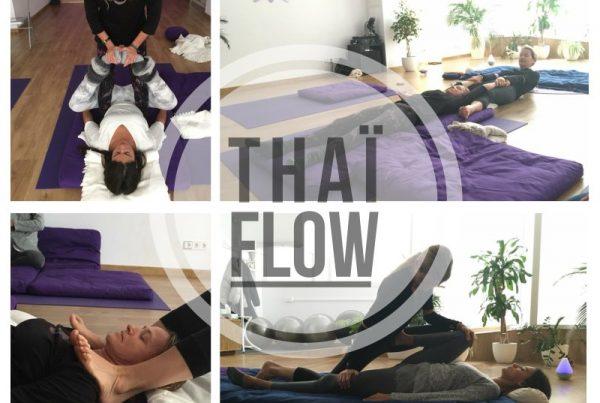Thai-Flow - taller iniciacion - marzo Espacio Aum Yoga Studio Castelldefels