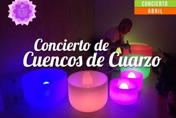 Concierto de cuencos de cuarzo - Abril 2018 - En Espacio Aum Yoga Studio - Castelldefels