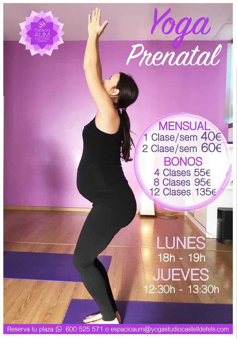 Prenatal - Nueva clase Jueves - 2018 - Espacio Aum Yoga Studio Castelldefels 1