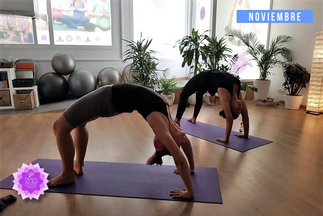 Hata Vinyasa Yoga - Noviembre 2018 - En Espacio Aum Yoga Studio - Castelldefels