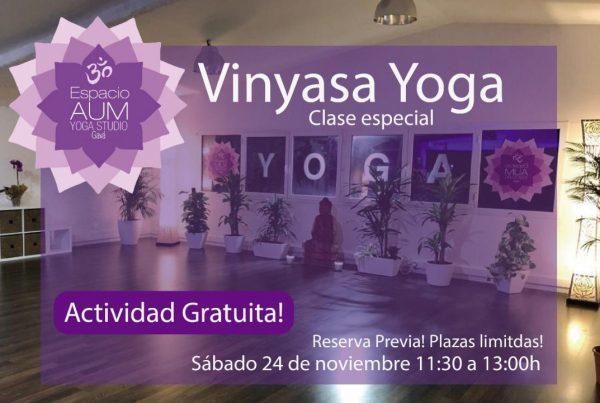 Vinyasa Yoga - Noviembre 2018 - En Espacio Aum Gavà - Yoga Studio