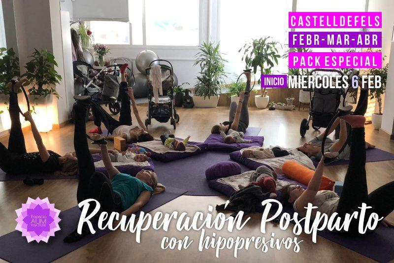 Recuperación Postparto con hipopresivos - Febrero - Espacio Aum Castelldefels y Gavà - Yoga Studio
