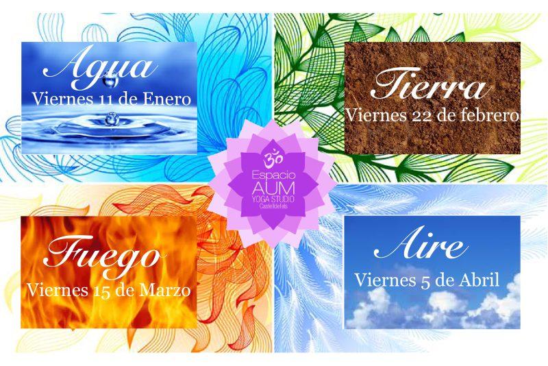 Yoga Nidra - 4 Elementos - Espacio Aum Castelldefels y Gavà - Yoga Studio