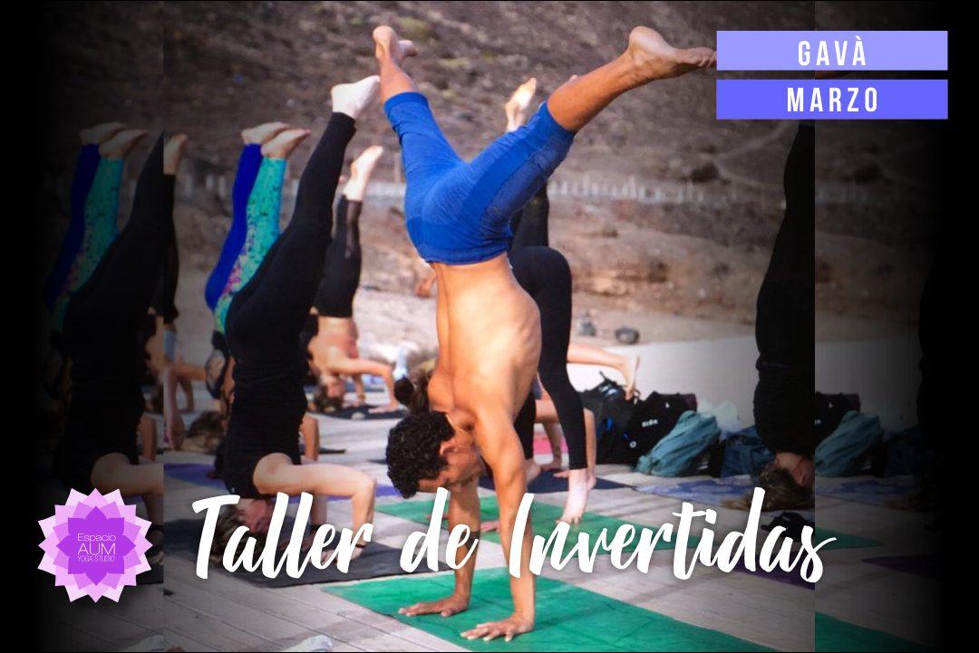 Taller de Invertidas con Nico - Gavà - Espacio Aum Castelldefels y Gavà - Yoga Studio