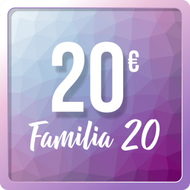 Familia 20 - Tickets Espacio Aum Socios
