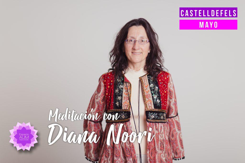 Meditación con Diana Noori - Mayo en Espacio Aum Castelldefels y Gavà - Yoga Studio