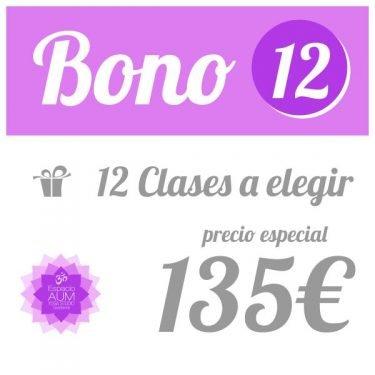 Bono 12 clases - 135 - Precio ahorro