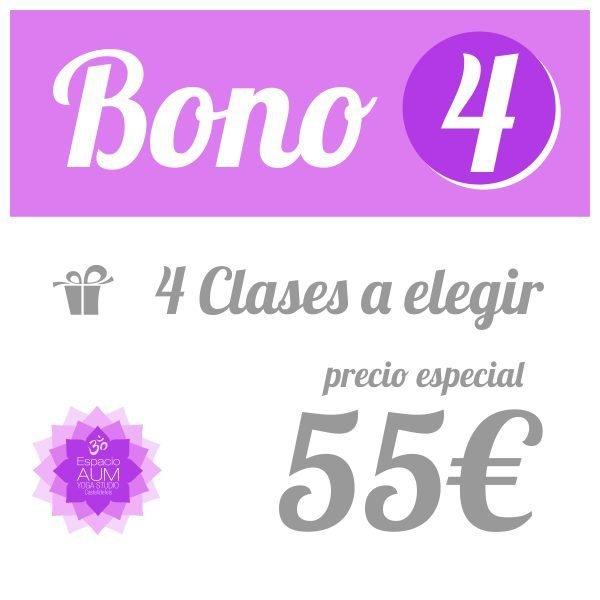 Bono 4 clases - 55 - Precio ahorro